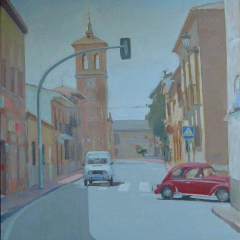 pintura rapida ,Moreno Moya, 2º premio Cobisa oleo/Lienzo 95x95 cm